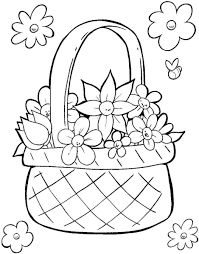 Easter Basket Printable Coloring Pages At Getdrawingscom Free For