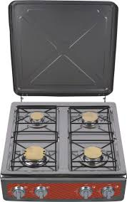 4 Burner Camping Grill Ultra Slim Portable Table Tops Gas Stove