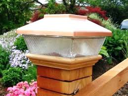Solar Deck Post Lights 4x4 Amazon Copper Top Solar Led Light X Post Caps  For Solar