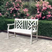 white garden bench. Delighful White Product Image Bradley Ecofriendly 4foot Outdoor White Wood Garden Bench With A