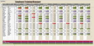 Training Record Sheet Template Training Spreadsheet Template And Employee Training Record