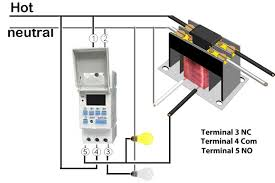 din rail timers and manuals how to wire din rail timer