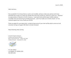 A Child's Dream Thank You Letter, June 2018 | D.a.r.e. America