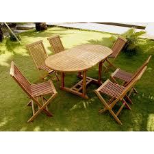 CONCEPT USINE - Kajang : Salon de jardin 6/8 pers. 6 chaises + table ...