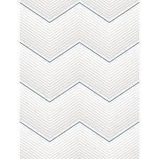 seabrook designs chevron metallic silver and royal blue stripe wallpaper