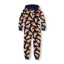 boys sleepwear the children s place off boys long sleeve pizza print glacier fleece hooded one piece sleeper