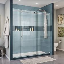 this review is from enigma x 68 in to 72 in x 76 in frameless sliding shower door in brushed stainless steel