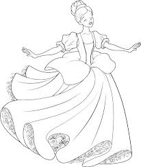 Cinderella Coloring Pages Pdf At Getdrawingscom Free For Personal