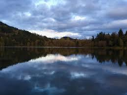 kress lake. sunset at kress lake in kalama wa l