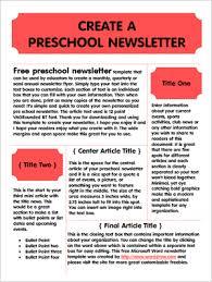 2018 08 Free Preschool Newsletter Template Microsoft Word Free