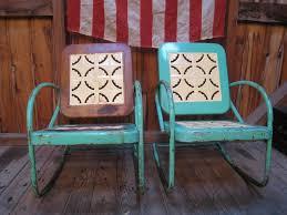 retro metal patio chairs. Vintage Metal Patio Chairs Blue Retro