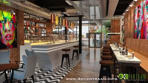 2 of 4 in Gorgeous 3D Restaurant Bar Design View