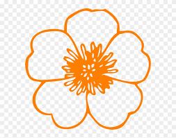 orange flowers cliparts flower clip art free