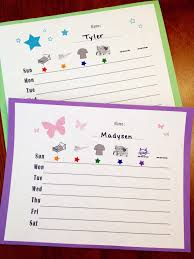 Toddler Responsibility Chart Simple And Fun Free Download