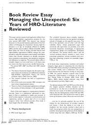 Book Review Essay Managing The Unexpected Six Years Of Hro