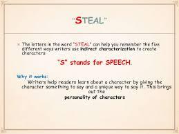 Steal Characterization Chart Characterization Steal Method