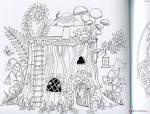 Волшебный лес раскраска
