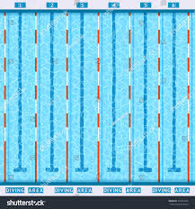 olympic swimming pool lanes. Interesting Swimming Olympic Swimming Pool Deep Bath Lanes Top View Flat Pictogram With Clean  Transparent Blue Water Vector To Swimming Pool Lanes