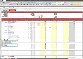 estimate spreadsheet template spreadsheet templates for busines construction cost estimating template 1