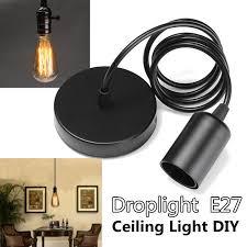 e27 single head home ceiling pendant lamp light bulb holder socket hanging fixture 1 2m