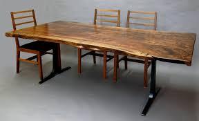 Claro Walnut Slab Dining Table Dorset Custom Furniture Dan Mosheim