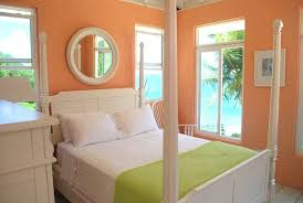 Peach Color Masterbed Room   Stay Warm This Winter In A Tropical Bedroom