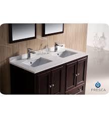 48 in double sink vanity top. double bathroom vanity mahogany finish fresca oxford 48\ 48 in sink top