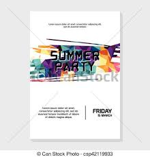 Summer Night Beach Party Poster Flyer Template.