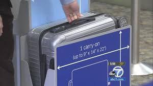 carry on luge sizes confuse travelers abc7 rh abc7 jetblue carry on size dimensions