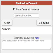 Decimal To Percent Calculator