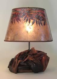 vintage manzanita burl rustic table lamps