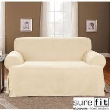 sure fit soft suede cream t cushion