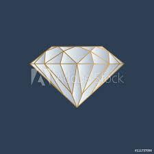 Fotografie Obraz Diamond Logo Vector Posterscz