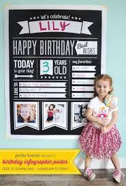 Free Birthday Posters Free Birthday Infographic Poster Partaaaaay Pinterest Birthday