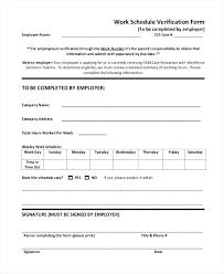 Work Employment Verification Form – Lrnsprk