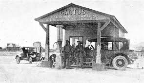 cactus twin s van horn texas filling station and a mystery car the old motor