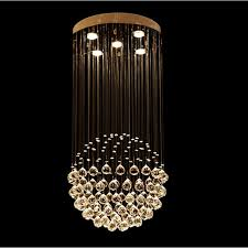 vallkin crystal led chandelier lighting ceiling hanging lamps fixtures with d50cm h100cm ac 100 to 240v for living room ce fcc crystal pendant ight crystal