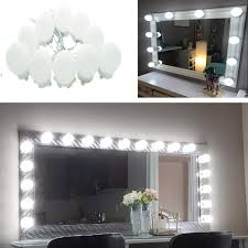 aiboo hollywood super star style makeup mirror vanity led light bulbs kit for dressing table dimmable plug in linkable and flexible strip