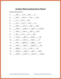 balancing equations worksheet balancing equations questions and answers