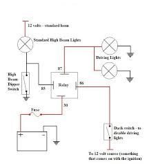driving light wiring diagrams negative and positive switching negative earth switched hid driving light or spot light wiring diagram