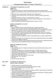 Product Marketing Analyst Resume Samples Velvet Jobs Market Risk S