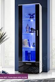 glass cabinet furniture. Tall Display Cabinet Modern Design Front Transparent Glass (T40-192cm / WBB) Furniture