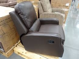 synergy ine leather recliner swivel glider