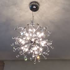 john lewis chandelier nebula 24 light pendant crystal and chrome