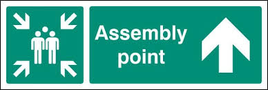 Image result for assembly point sign