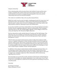 campus climate youngstown state university letter from president and provost to ysu campus pdf of letter available on links to