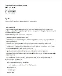 Perioperative Nurse Resume Sample Nurse Resume Best Registered Nurse ...