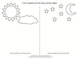 Sky Sky Night Day Kindergarten Worksheets