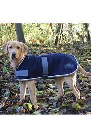 Weatherbeeta Thermic Dog Coat Navy Grey White