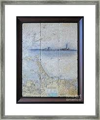 Framed Nautical Charts Transcreate Co